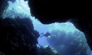 volcano cave diving